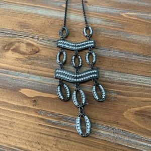 Black and Silver Costume Necklace